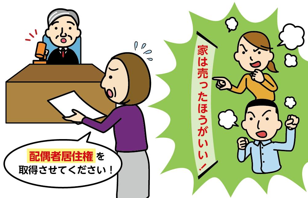 配偶者居住権の取得を申し立てる